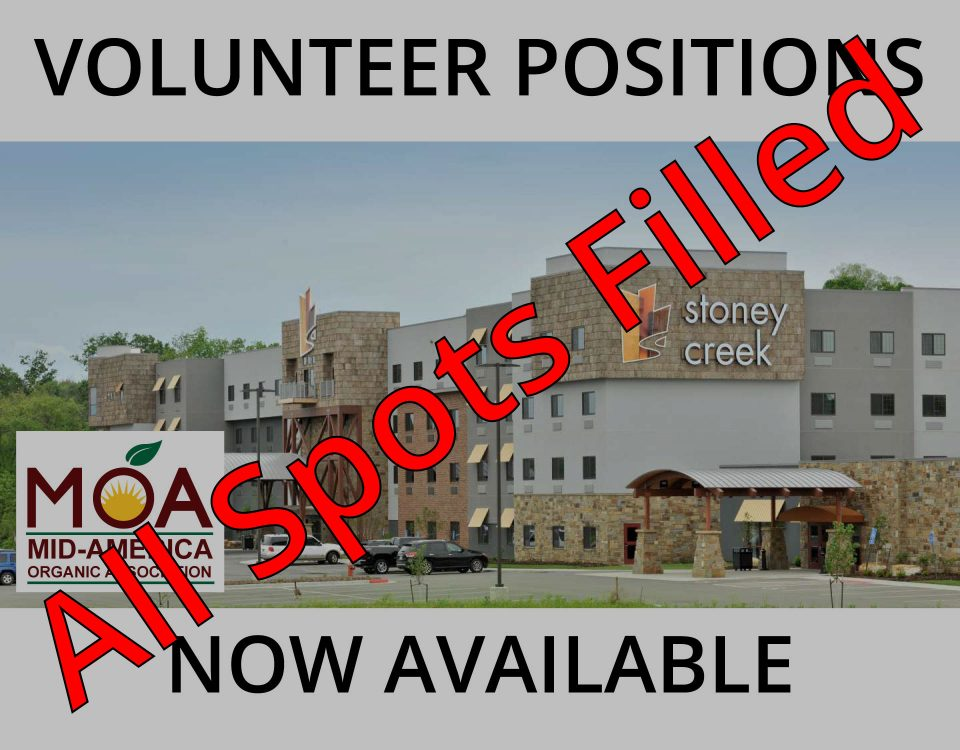Volunteer Positions Filled