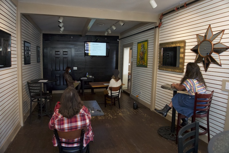 Photo of the Missouri Organic Association fall workshop watch party