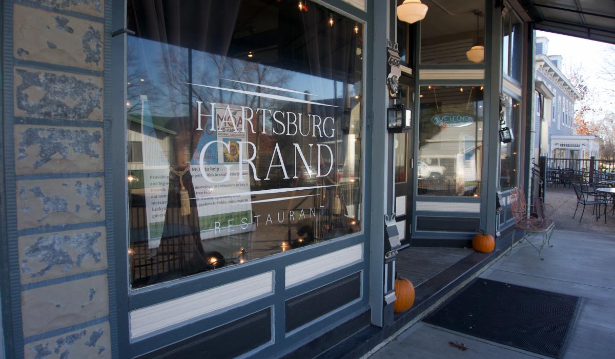 Photo of the Hartsburg Grand, where the Missouri Organic Association fall workshop was held