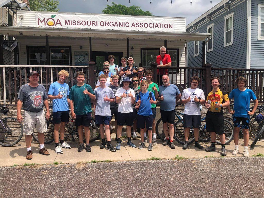 Frank's PE Class at the Missouri Organic Association event